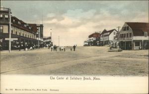 Salisbury Beach MA The Center c1905 Postcard NICE STREET SCENE
