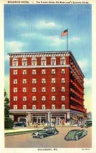 Maryland Salisbury Wicomico Hotel Curteich