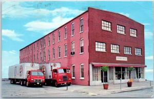Nappanee, Indiana Postcard BRETHREN SERVICE CENTER Building & Trucks 1974 Cancel