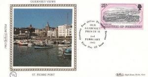 St Pierre Port Guernsey Photo Benham First Day Cover