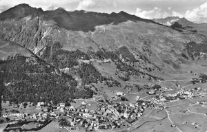 BG19396 davos mit parsennbahn weissfluhjoch und schiahorn switzerland real photo