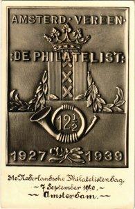 PC CPA ADVERTISING, AMSTERD VEREEN DE PHILATELIST, VINTAGE POSTCARD (b9880)