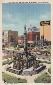 Ohio Cleveland Soldiers and Sailors Monument Public Square Curteich