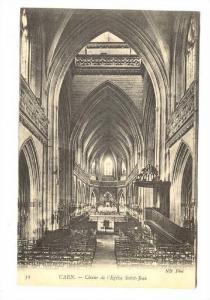 Interior, Choeur De l'Eglise Saint-Jean, Caen (Calvados), France, 1900-1910s
