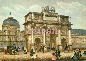 Modern Postcard from Paris Temps Jadis the Carrousel Arc de Triomphe
