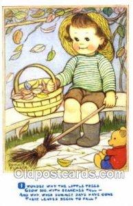 Children Nursery Phyllis Purser 1980 postal used 1980