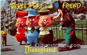 Three Little Pigs Disneyland, Anaheim, CA, USA Postcard Post Card Disneyland,...