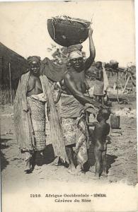 CPA Senegal Ethnic Nude Fortier - 1228. Céréres du Sine (71194)