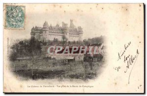 Old Postcard The Chateau de Pierrefonds View from Route Compiegne