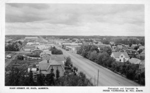 St. Paul Alberta Canada Main Street Real Photo Vintage Postcard JI658510