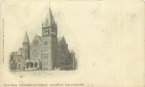 Galesburg Illinois~Mail Printing Co Postcard~Central Presbyterian Church c1906