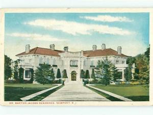 Vintage Post Card dr Barton JacobsResidence Newport   R I   # 4114