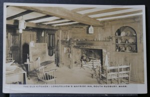 South Sudbury, MA - The Old Kitchen, Longfellow's Wayside Inn - RPPC