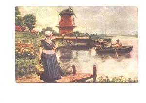 Painting, Rowboat, Dutch Milkmaid