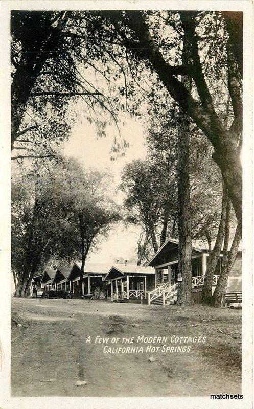 1920s Tulare County Modern Cottages California Hot Springs RPPC Postcard 2071