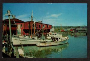 ME View Harbor Fishing Boats ROCKLAND MAINE Postcard