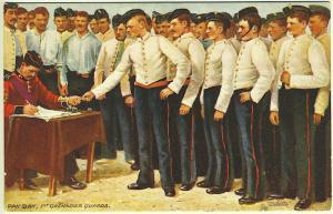 Tuck Oilette Pay Day 1st Grenadier Guards in Uniform Military Postcard