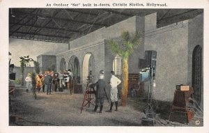 Outdoor Set Built in-Doors,Christie Studios, Hollywood, Early Postcard