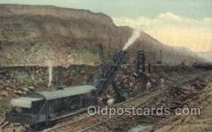 Panama Canal Mining Postcard Postcards  Panama Canal