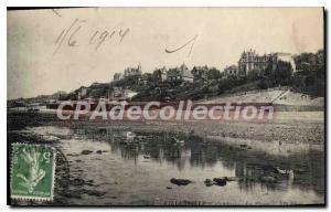 Postcard Old Villerville Sur Mer Beach