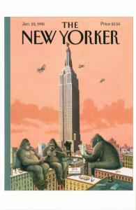 King Kong Call by Bruce McCall on 1995 New Yorker Magazine Postcard