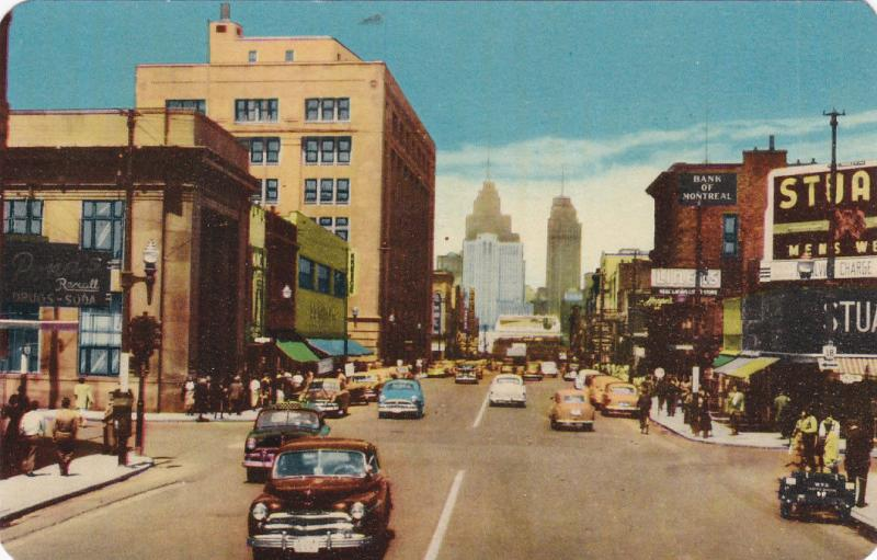 Oullette Avenue , WINDSOR , Ontario , Canada , 40-50s