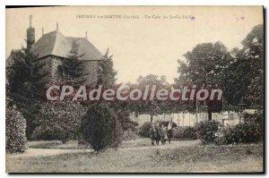 Postcard Old Fresnay sur Sarthe A corner of the Public Garden