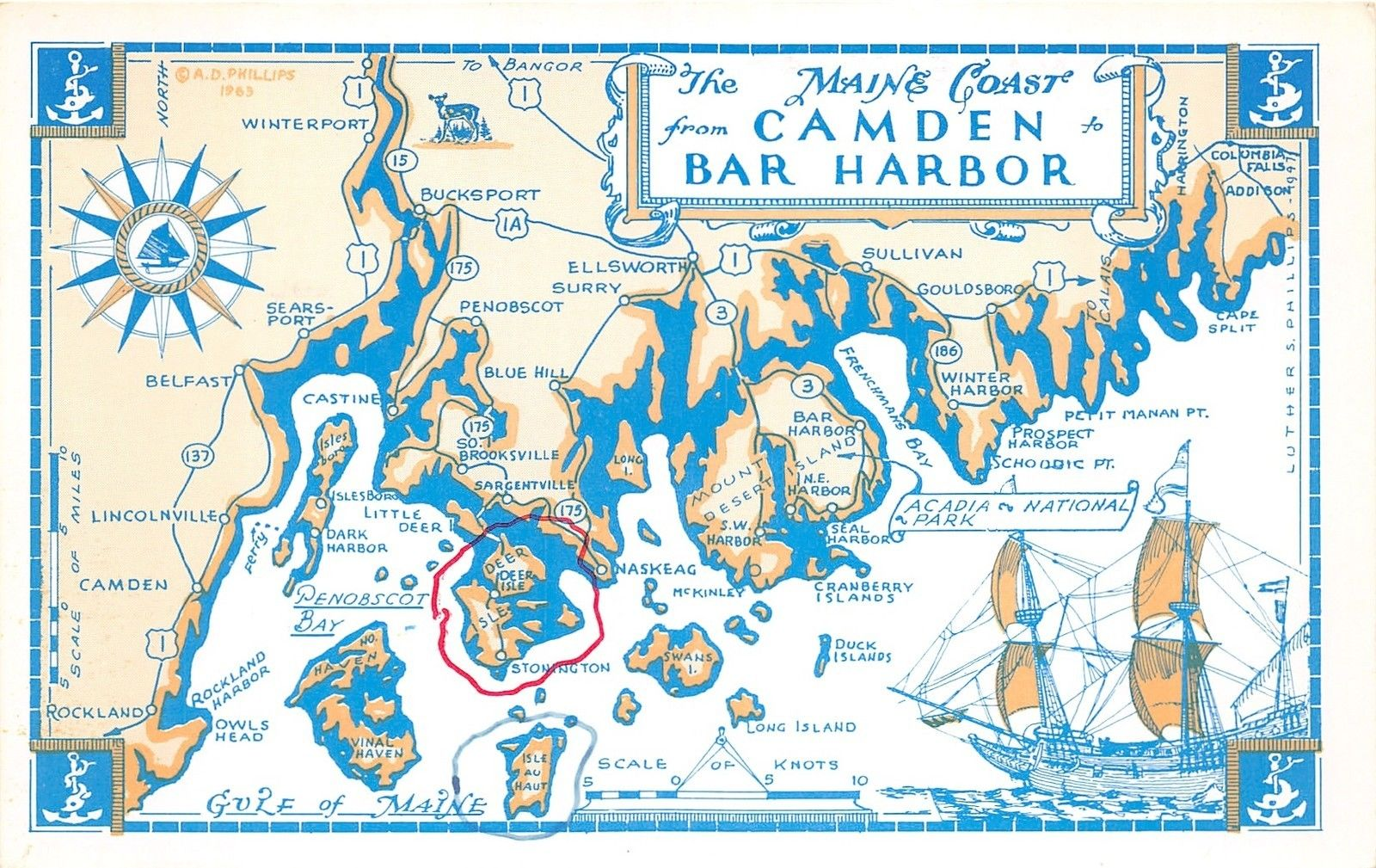 Map of Maine Coast-Camden to Bar Harbor~Note on Back~1960s ... Maine Coast Map on bar harbor map, new orleans map, maine storm map, maine mall portland maine map, state of maine map, camden maine map, maine woods map, maine harbor map, maine desert map, maine western map, maine map with latitude and longitude, acadia maine map, maine bay map, midcoast maine map, maine north map, gorham maine street map, maine school districts map, maine oregon map, blue hill maine map, maine east map,