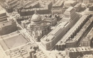RP: BOSTON, Massachusetts, 1938; Aerial View of First Church of Christ Scientist