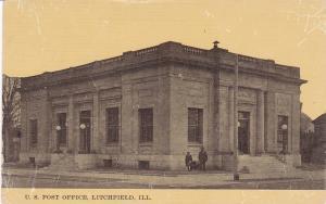 Post Office , LITCHFIELD , Illinois , PU-1913