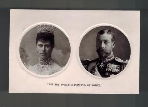 Mint HRH Prince and Princess of Wales real picture Postcard