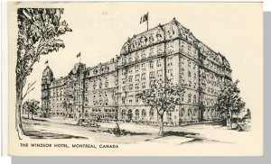Montreal, Quebec, Canada Postcard, View Of Windsor Hotel