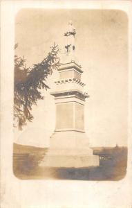 Mount Upton New York Historic Statue Real Photo Antique Postcard K100481