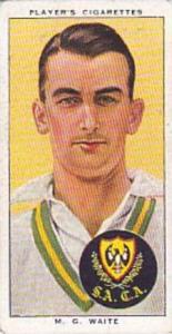 Player Vintage Cigarette Card Cricketers 1938 No 47 M G Waite South Australia