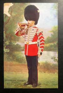 Mint England Tuck's Picture Postcard Grenadiers Guards Bugler