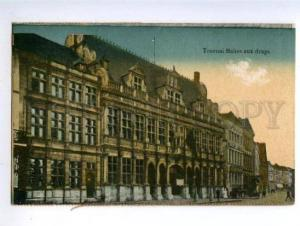 155354 Belgium TOURNAI Halles aux draps Cloth Hall Vintage PC