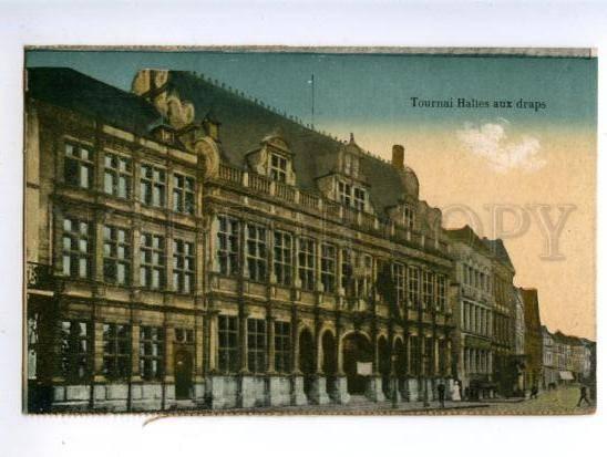 155354 Belgium TOURNAI Halles aux draps Cloth Hall Vintage PC