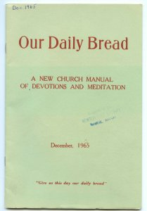 Vintage December 1965 Our Daily Bread Church Devotions & Meditation Booklet