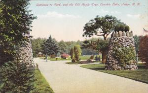 SALEM, New Hampshire, 1900-1910's; Entrance To Park, And The Old Apple Tree, ...