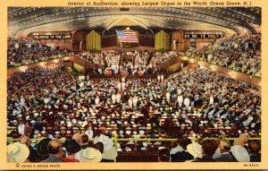 New Jersey Auditorium Interior Showing Largest Organ In The World Curteich