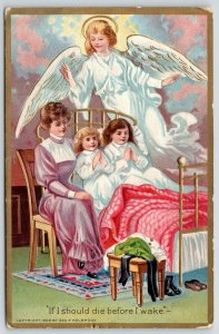 Now I Lay Me Down to Sleep~Psalm 4~Children in Bed~If I Should Die~Angel~Emboss