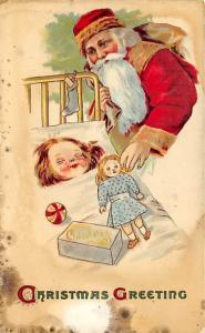 Damaged Santa Claus Postal Used Unknown