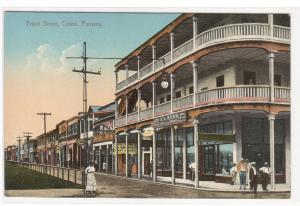 Front Street Colon Panama 1910c postcard