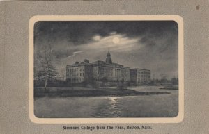 BOSTON , Mass. , 1900-10s ; Simmons College from the Fens