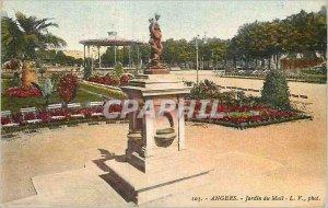 Old Postcard Angers Jardin du Mail