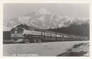 RP: The AuRoRa ALASKA Railroad Train & Mt Mckinley , 1930-40s