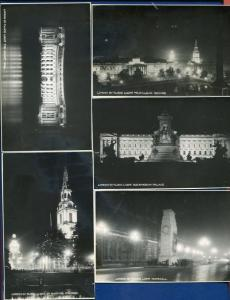 London by Floodnight 5 views black white real photo postcards