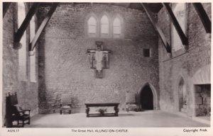 The Great Hall Allington Castle Kent Antique Real Photo Postcard