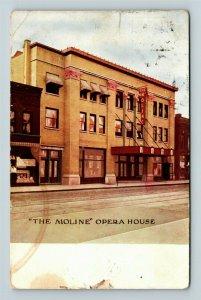 The Moline, Opera House, Vintage Postcard Z63