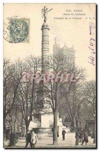 Old Postcard Place du Chatelet Paris Victory Column